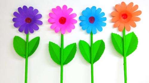 how to make daisy paper flower