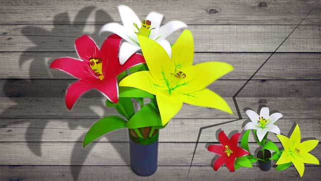 How-to-make-paper-flower-easily